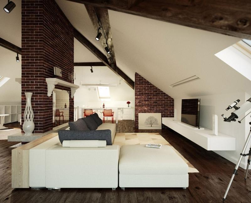 Elegant Modern attic Ideas 20 Beautiful attic Living Room Design Ideas Rilane