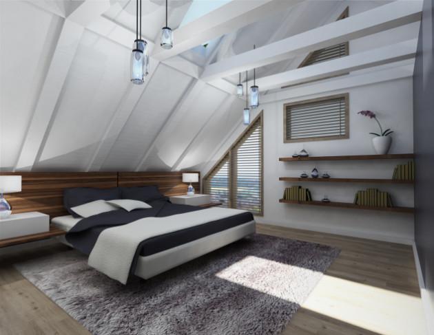 Elegant Modern attic Ideas 21 Modern attic Bedroom Designs for All Tastes