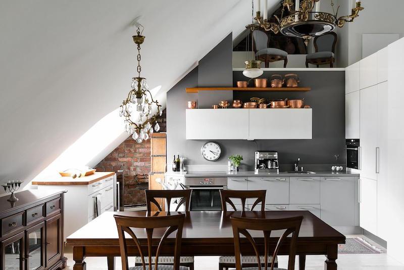 Elegant Modern attic Ideas Elegant Interior Desing In An attic Apartment