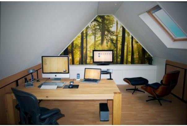Elegant Modern attic Ideas Galeria Piękne Inspiracje 48 Pomysłów Na Biuro Na