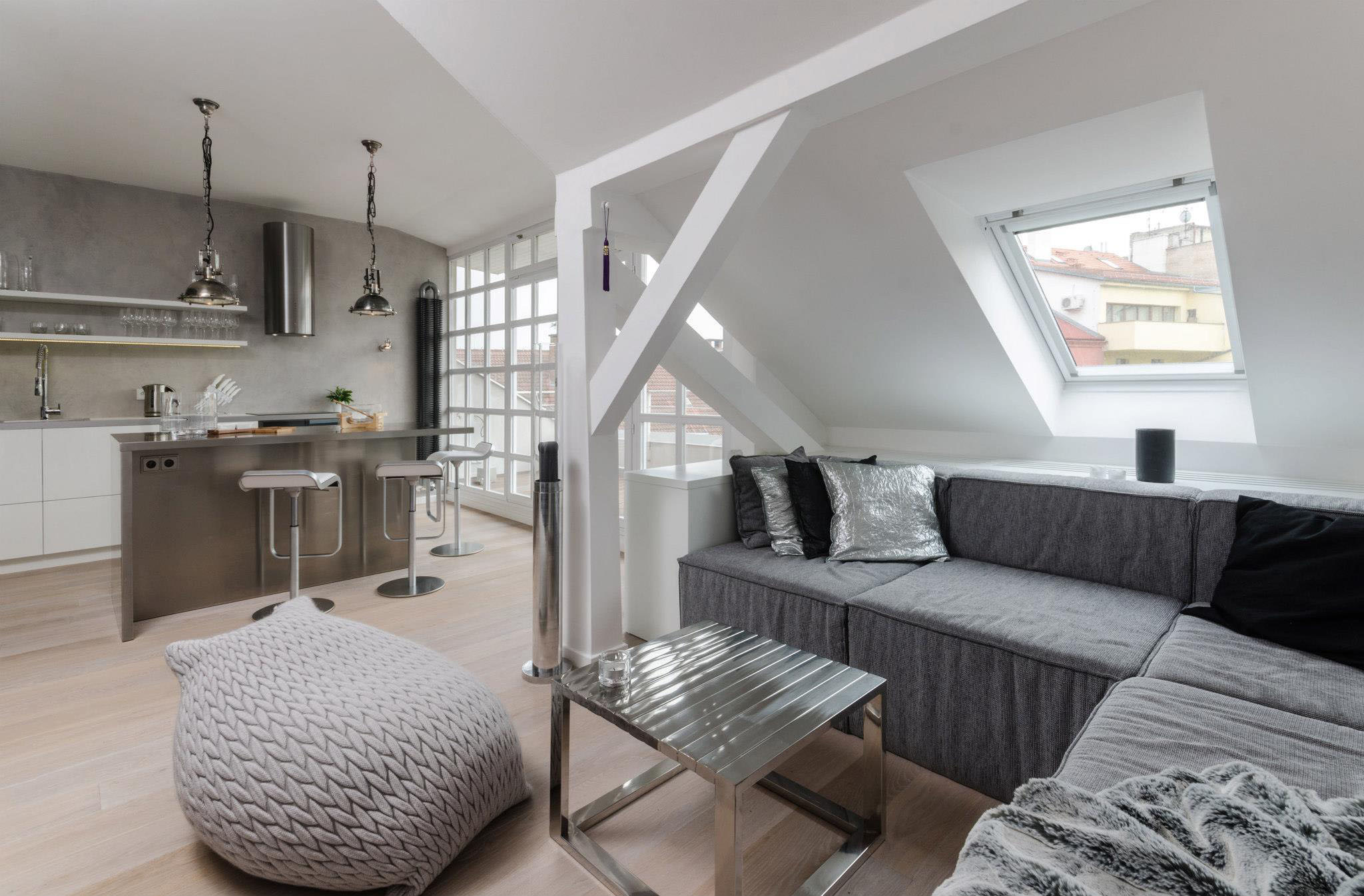Elegant Modern attic Ideas Prague Modern Loft Apartment 1