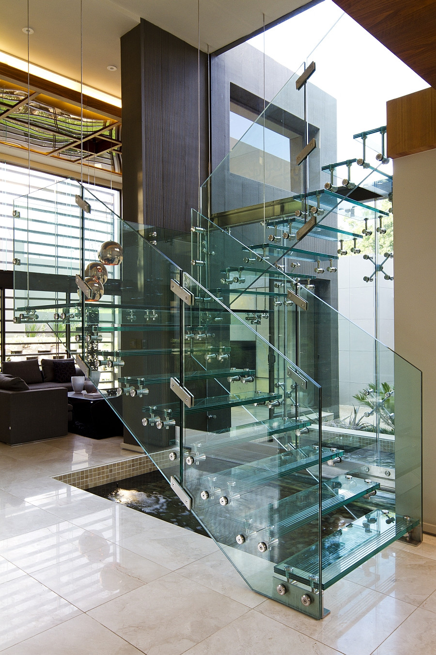 Glass Stairs Ideas Enthralling Glass Staircases that Add Sculptural Style to