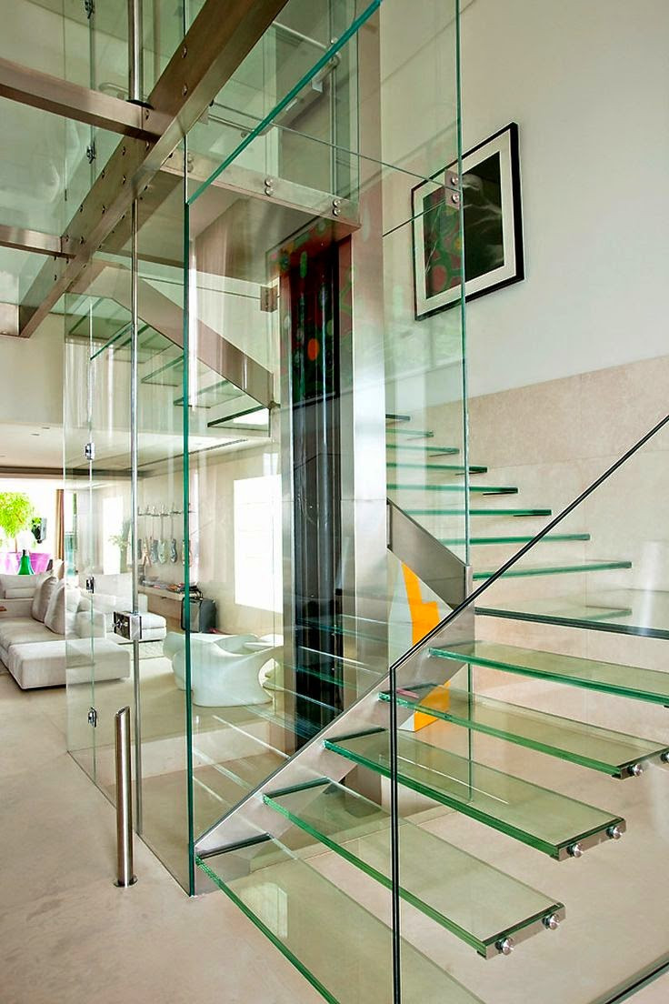 Glass Stairs Ideas Glass Staircase Designs Types and Features