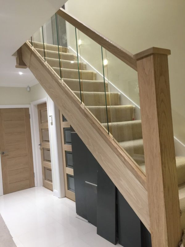 Glass Stairs Ideas Reflections Glass and Oak Balustrade Refurbishment Kit