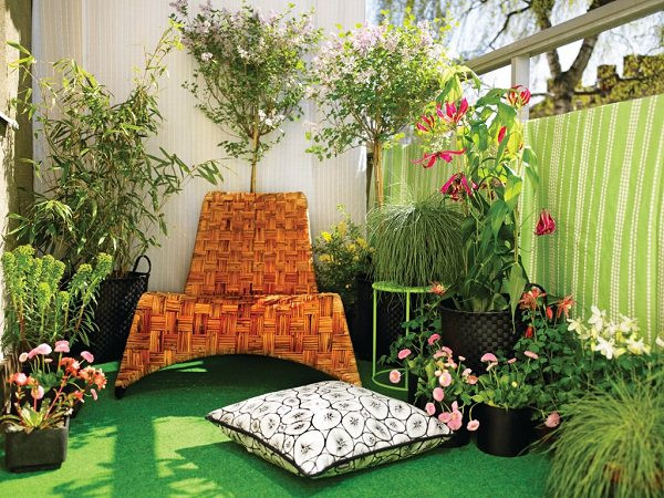 Green Balcony Ideas Balcony Flooring Ideas