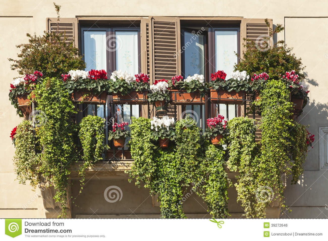 Green Balcony Ideas Green Balcony Stock Photo Image Of Spring Italian