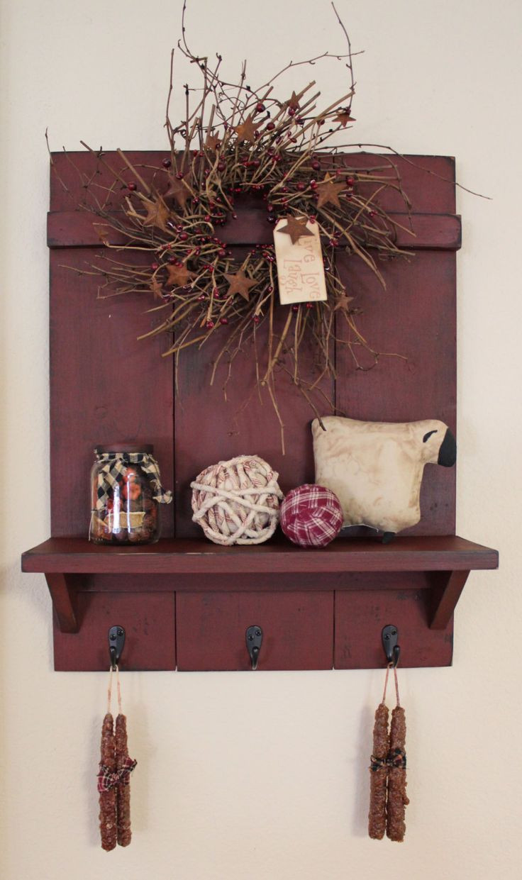 Handmade Wall Decor 25 Best Ideas About Primitive Shelves On Pinterest