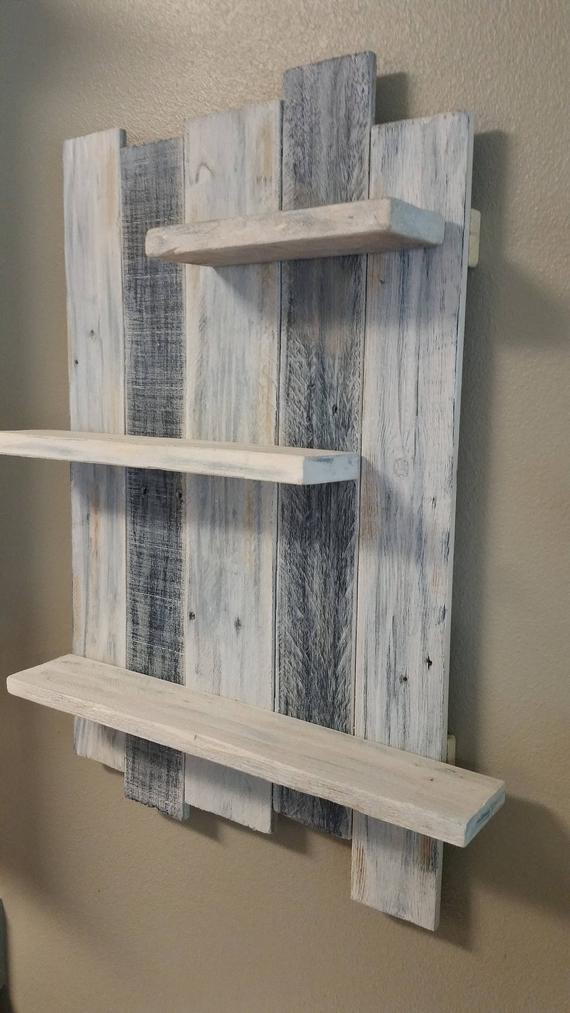 Handmade Wall Decor Handmade Reclaimed White Washed Wood Shelving Wall Decor