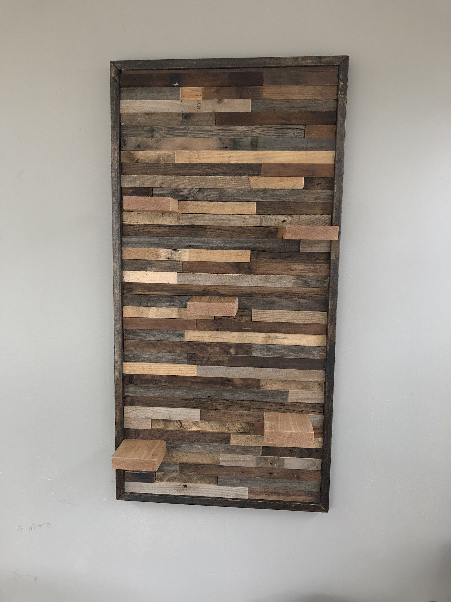 Handmade Wall Decor Rustic Wall Art with Shelves Handmade Reclaimed Barn