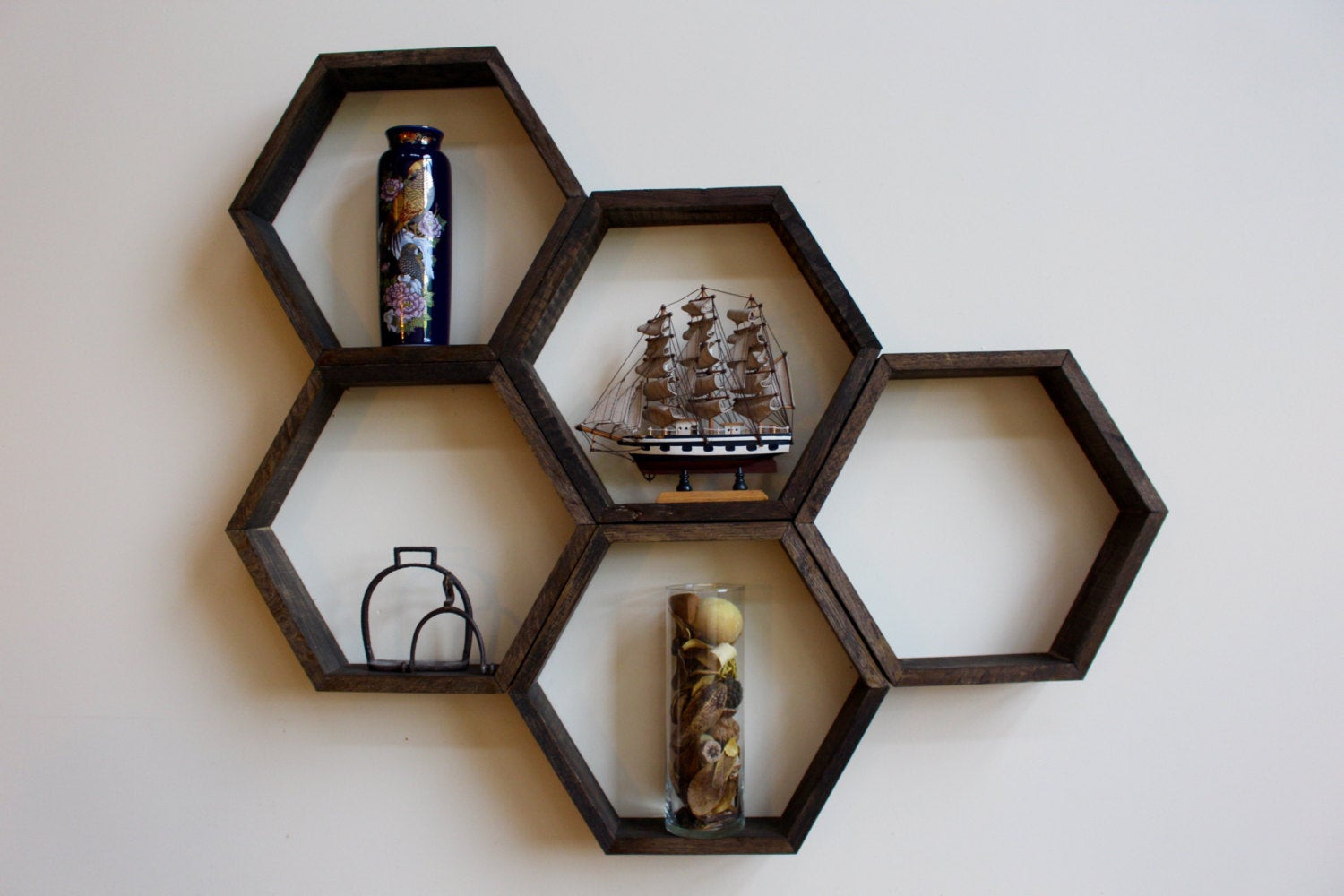 Handmade Wall Decor Wooden Honey B Hexagon Shelves Handmade Wall Decor Sets