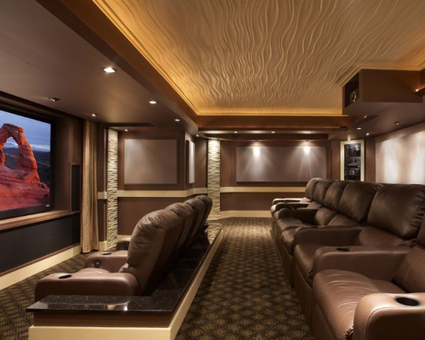 Home Cinema Designs 35 Modern Media Room Designs that Will Blow You Away