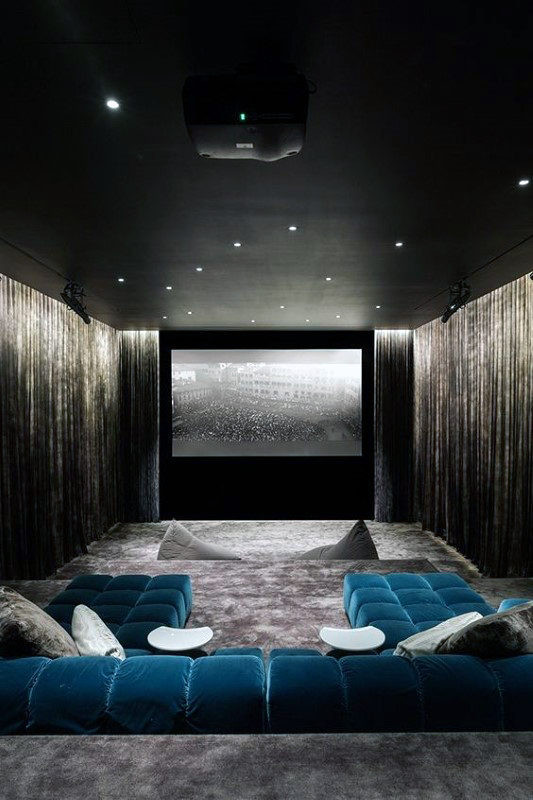 Home Cinema Designs 70 Home Basement Design Ideas for Men Masculine Retreats