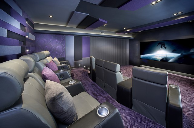 Home Cinema Designs Montreal Home theater Contemporary Home theater