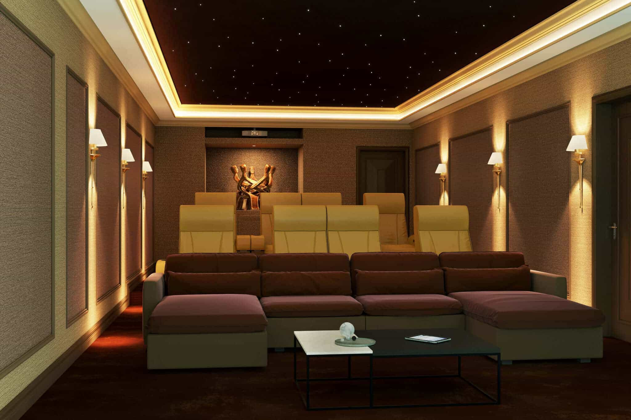 Home Cinema Designs What are the Best Type Of Lights to Use In A Home Cinema