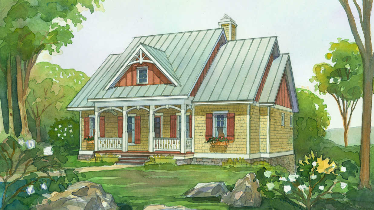 Illustrate Home Designs 18 Small House Plans southern Living