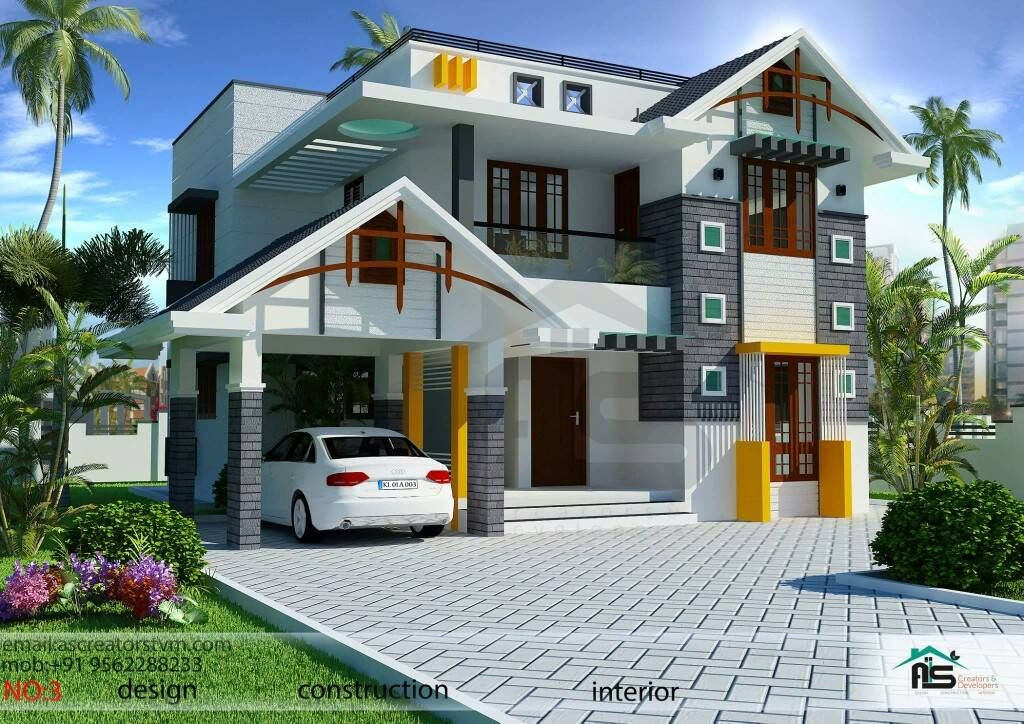 Illustrate Home Designs 1800sqft Mixed Roof Kerala House Design