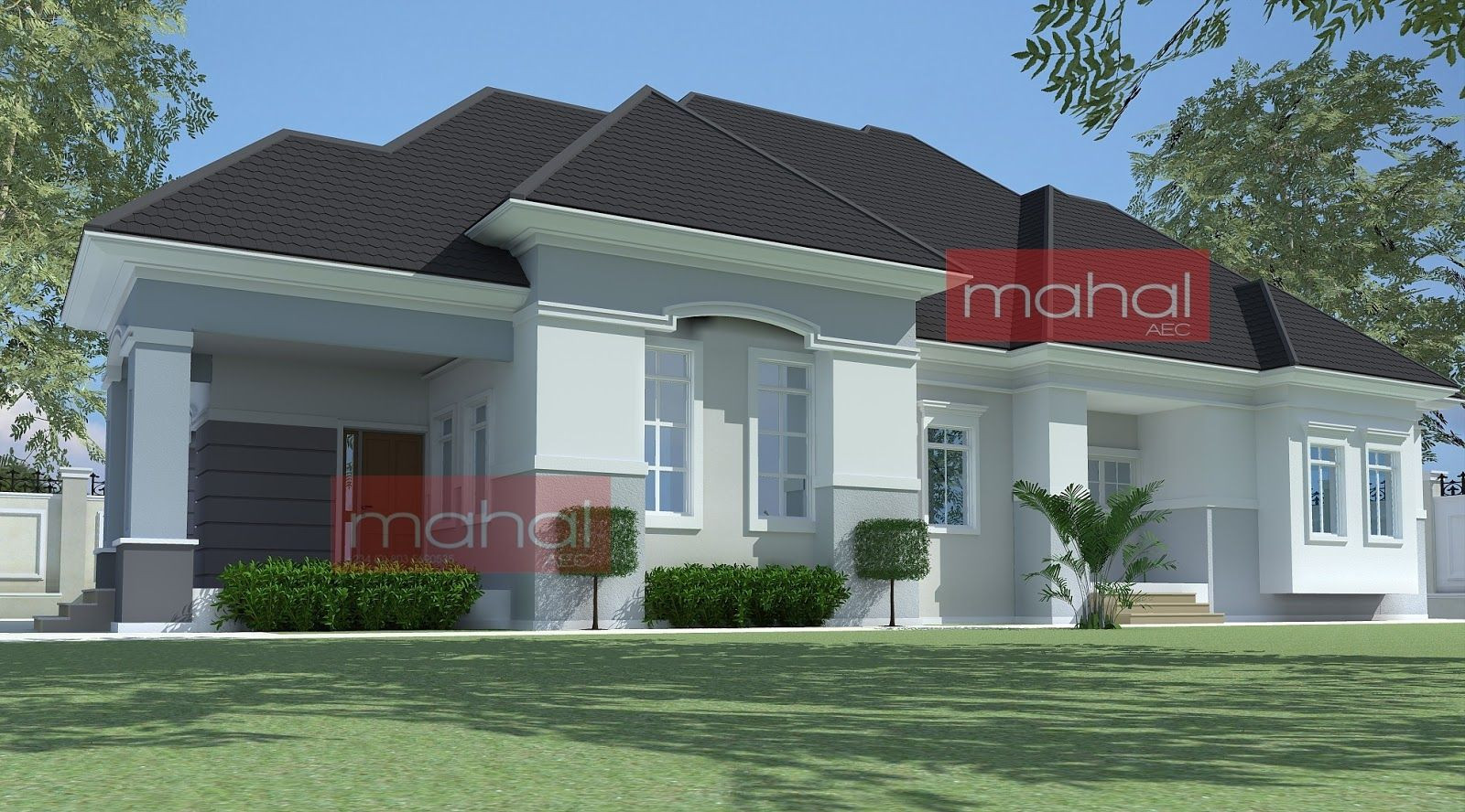 Illustrate Home Designs 4 Bedroom Bungalow Plan In Nigeria 4 Bedroom Bungalow