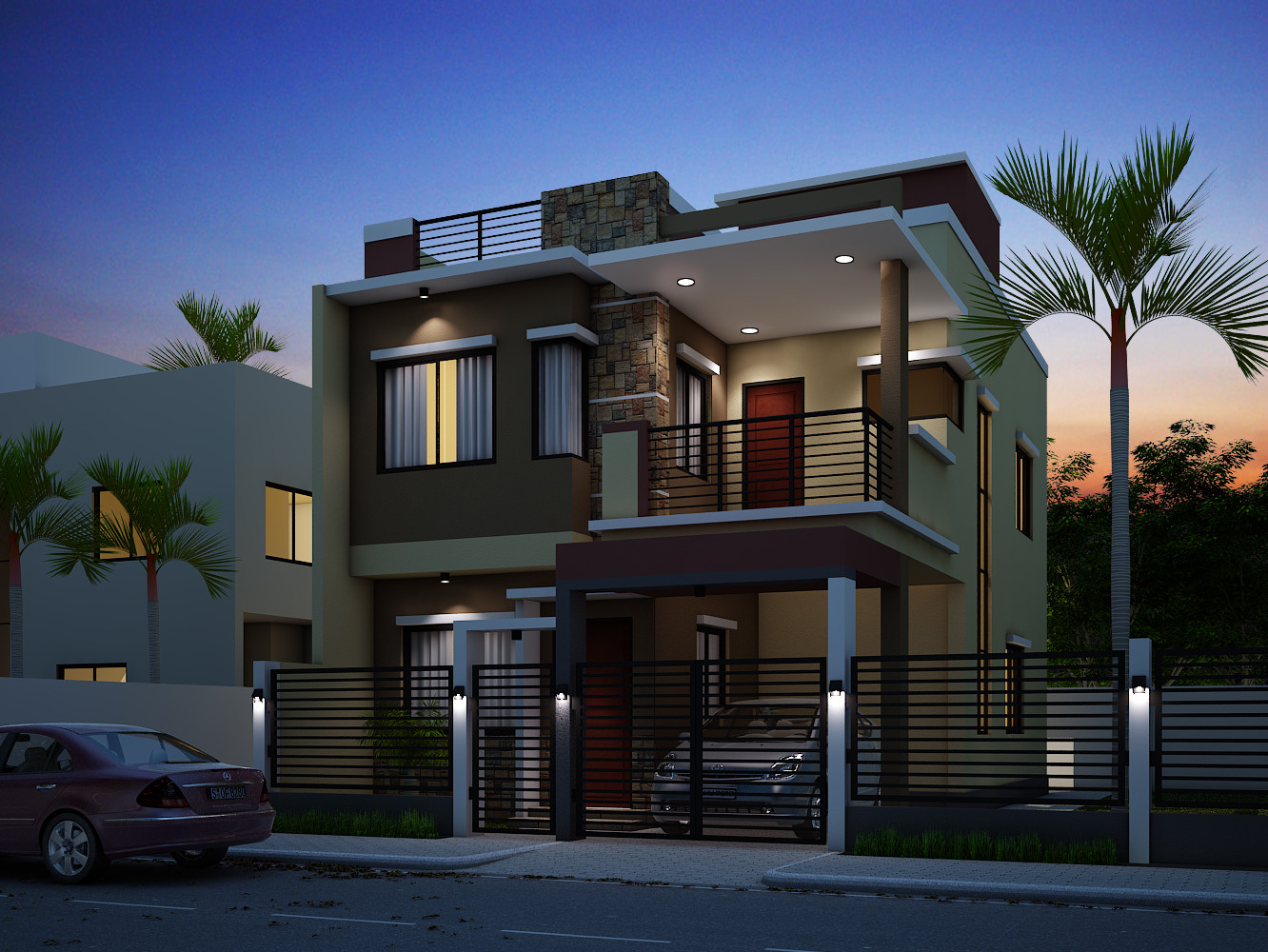 Illustrate Home Designs Breathtaking Double Storey Residential House
