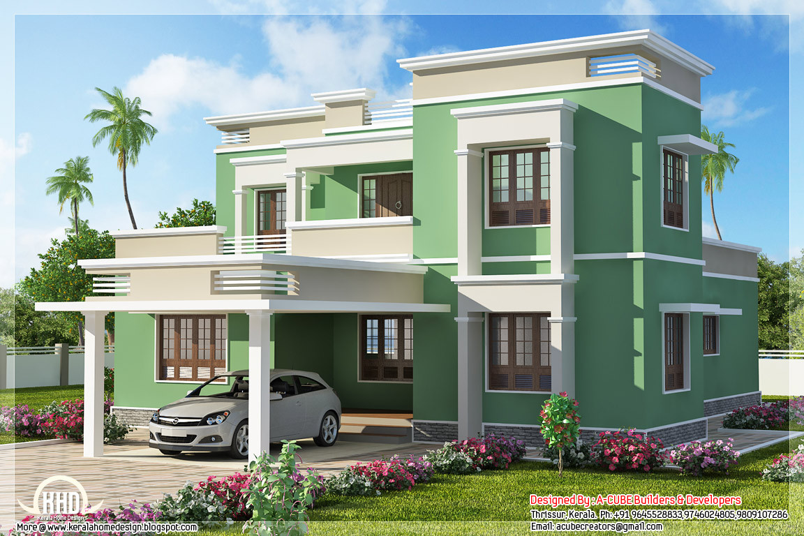 Illustrate Home Designs Indian Flat Roof Villa In 2305 Sq Feet Kerala Home