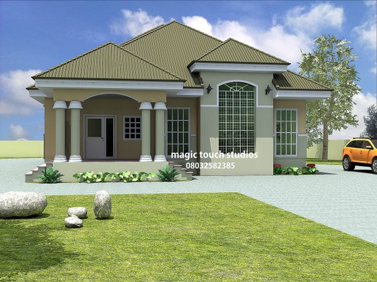 Illustrate Home Designs Kenya 5 Bedroom Bungalow 5 Bedroom Bungalow House Plan In