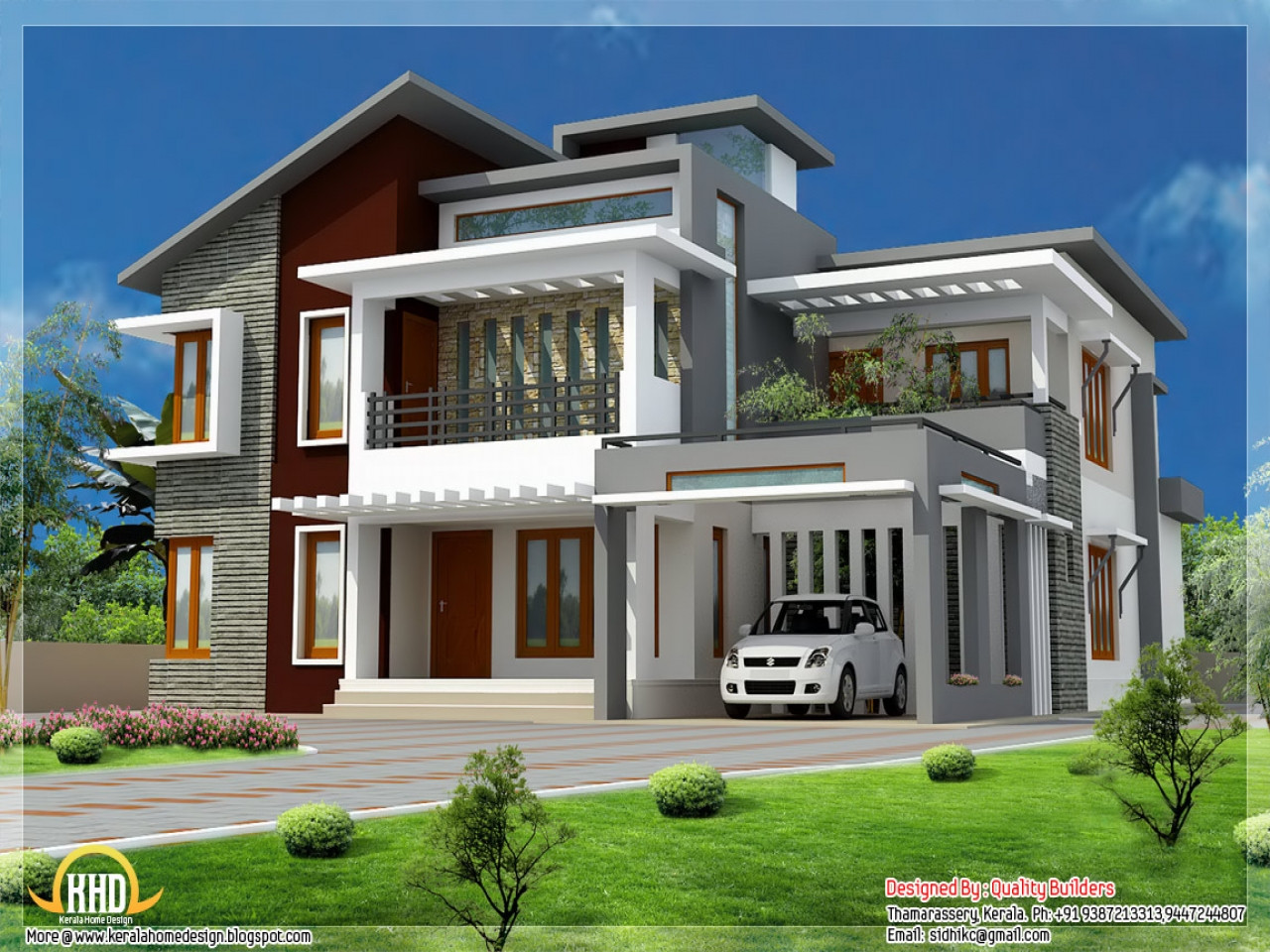 Illustrate Home Designs Modern Style House Design Modern Tropical House Design