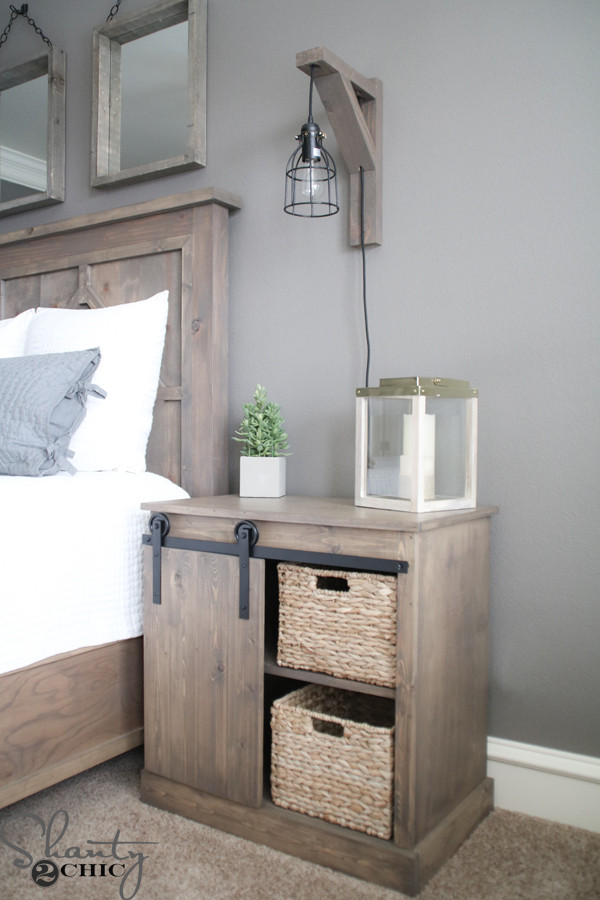 Interesting Nightstand Designs Sliding Barn Door Nightstand Diy Shanty 2 Chic