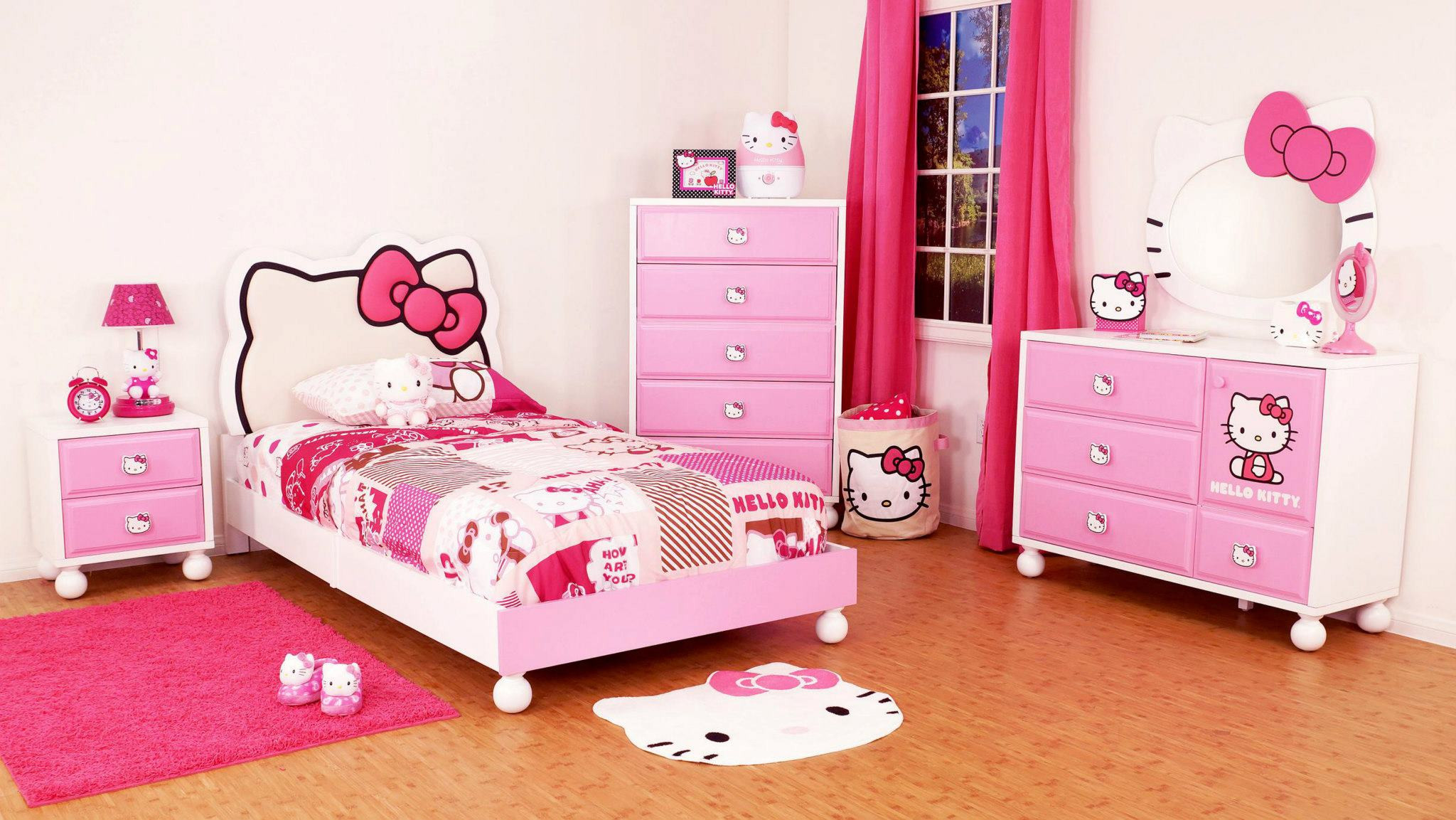 Kids Bedroom Design Hello Kitty Girls Room Designs
