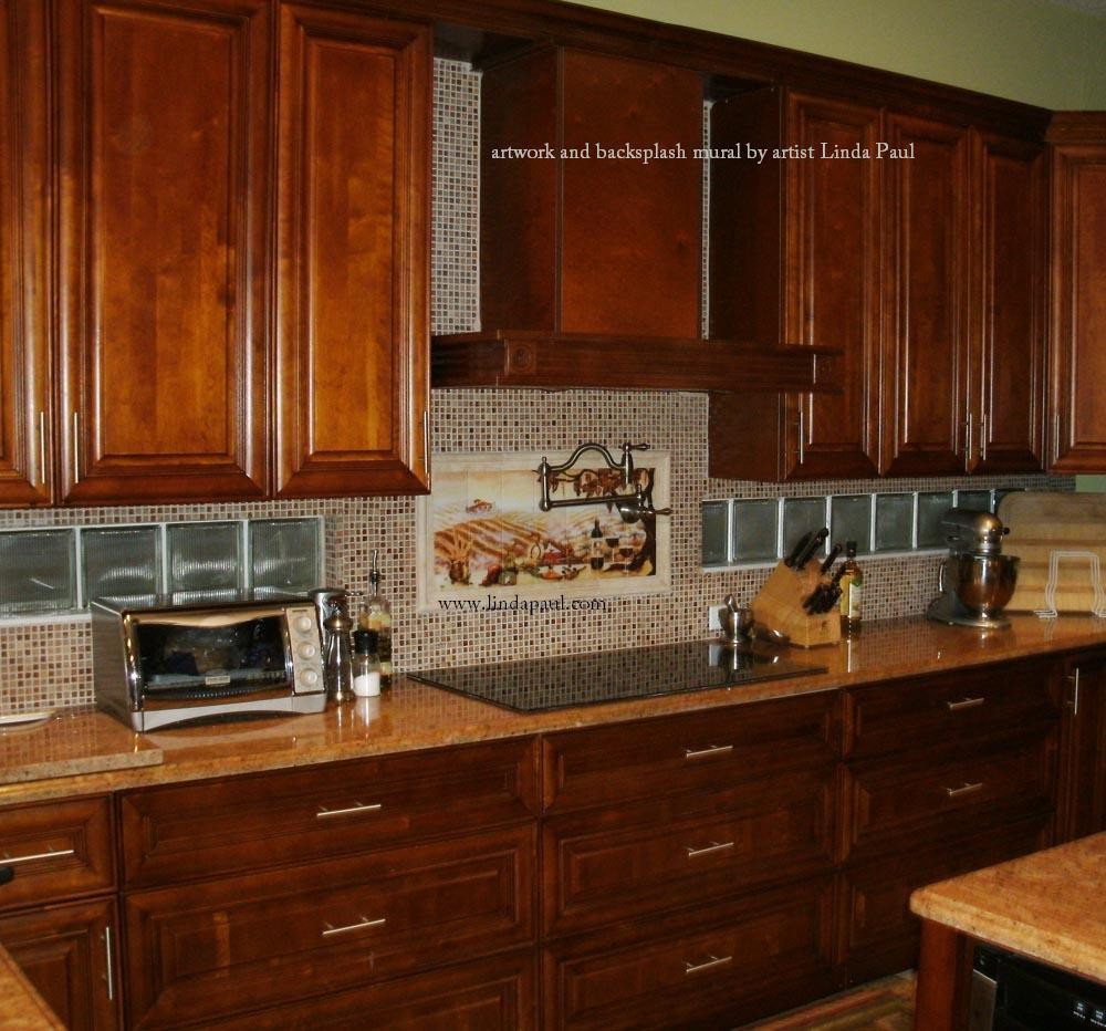 Kitchen Backsplash Design the Vineyard Tile Murals Tuscan Wine Tiles Kitchen