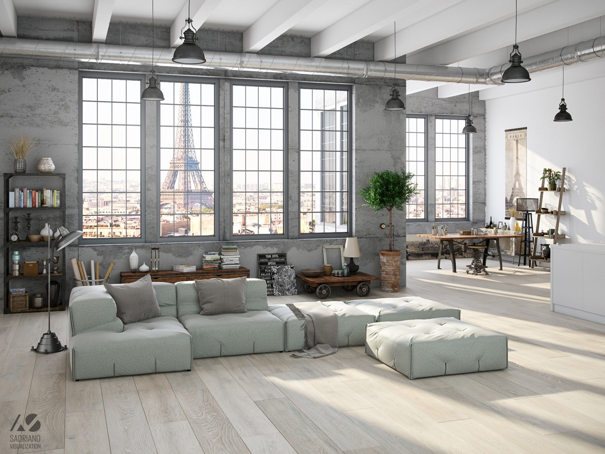 Living Room Design Industrial Style for Living Room Design Apply with