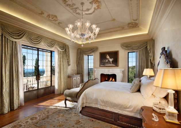 Magnificient Options for Curtains 20 Magnificent Mediterranean Bedroom Designs