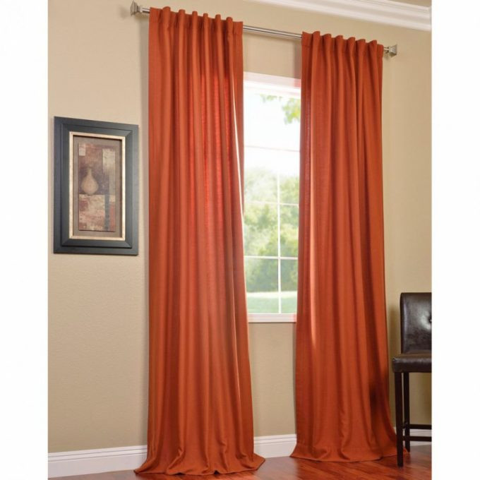 Magnificient Options for Curtains Rust orange Curtains