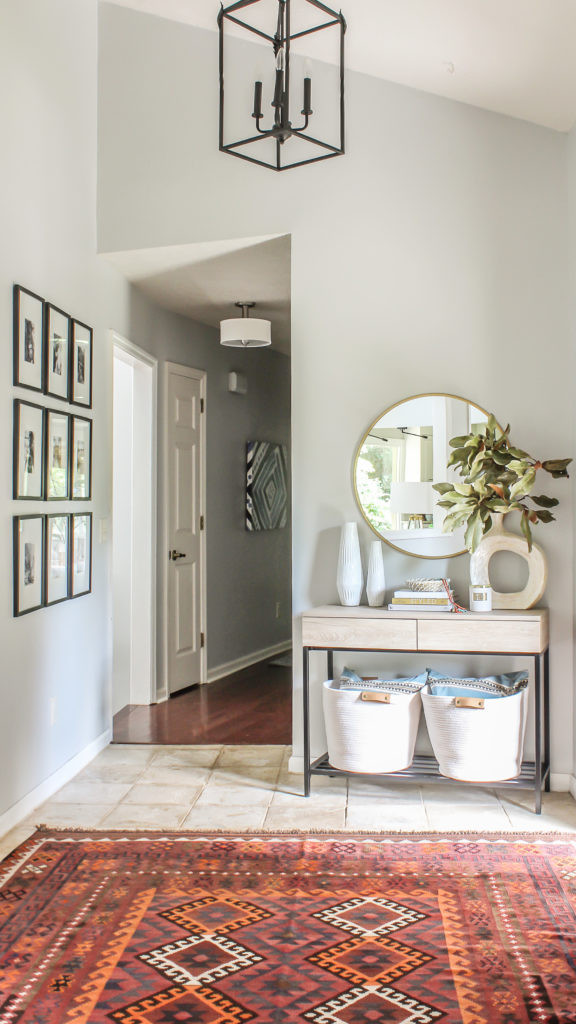 Modern Foyer Ideas Modern Farmhouse Meets Boho Foyer Makeover Bud