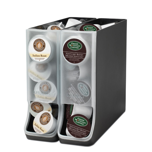 Mug Storage solutions K Cup Storage Dispenser Set Of 2 In Tea and Coffee Storage