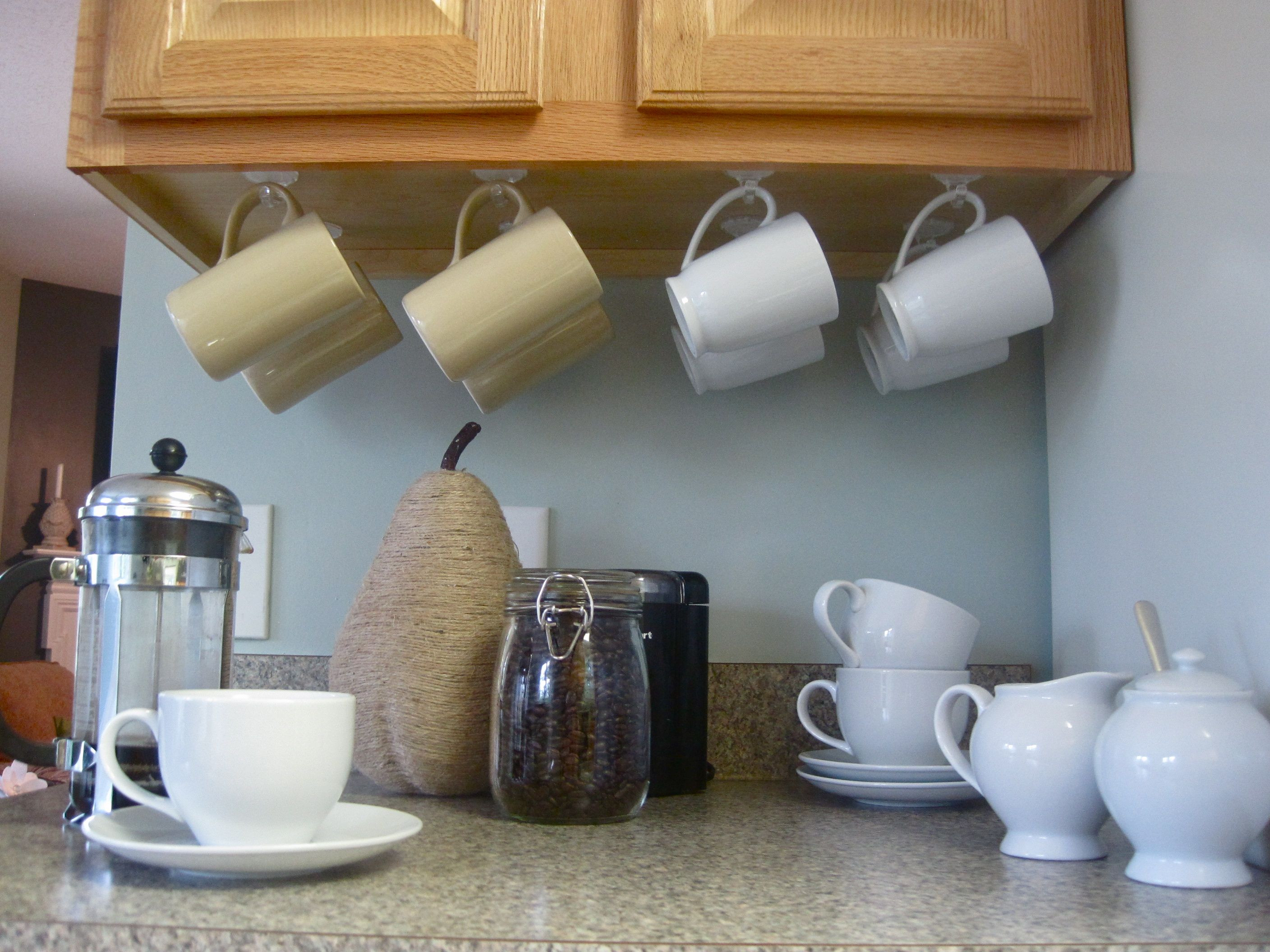 Mug Storage solutions Love This Idea for Under Cabinet Storage Home