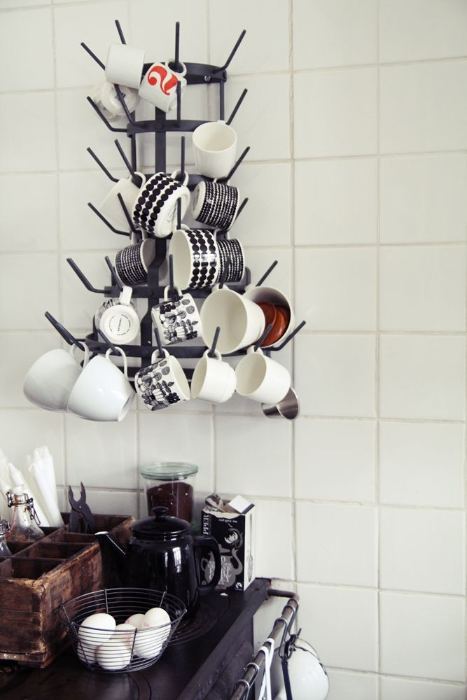 Mug Storage solutions Wall Mounted Coffee Mug Tree Coffee Objects