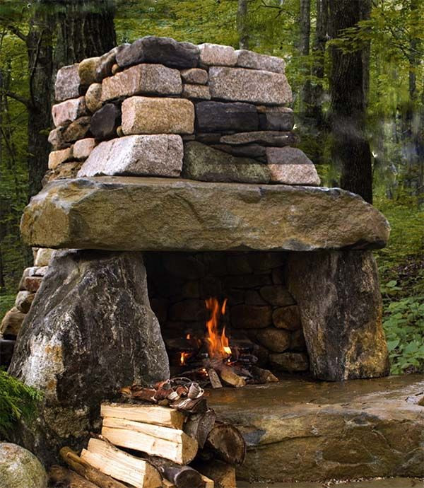 Outdoor Fireplace Design 25 Best Ideas About Outdoor Fireplaces On Pinterest