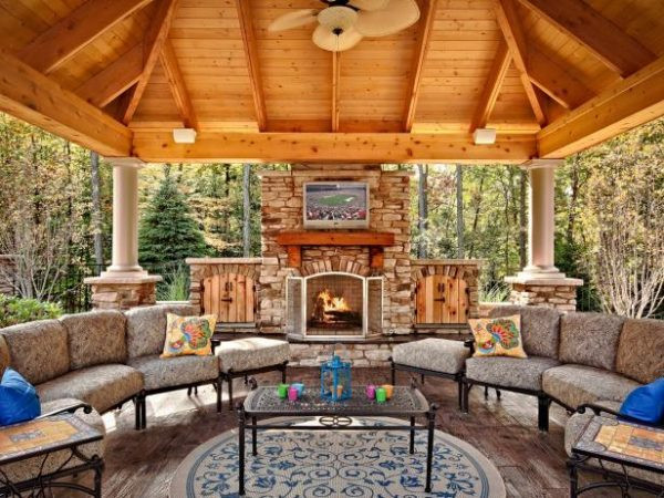Outdoor Fireplace Design 34 Fabulous Outdoor Fireplace Designs for Added Curb Appeal