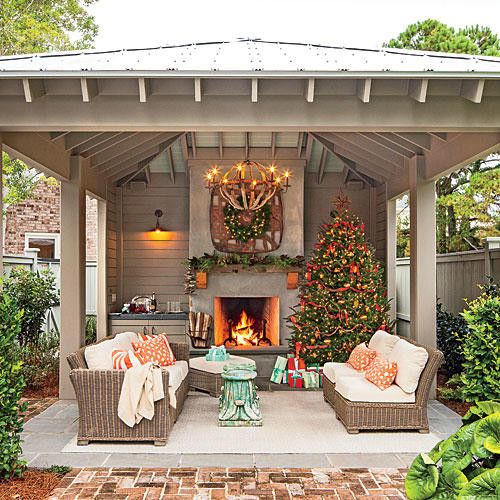 Outdoor Fireplace Design Glowing Outdoor Fireplace Ideas southern Living
