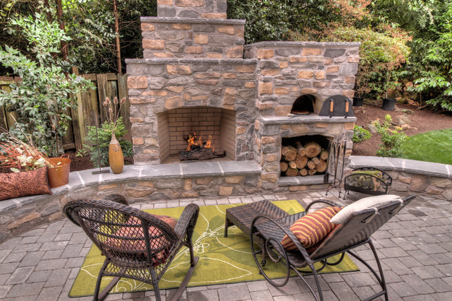 Outdoor Fireplace Design Outdoor Fireplace with Pizza Oven Traditional Patio
