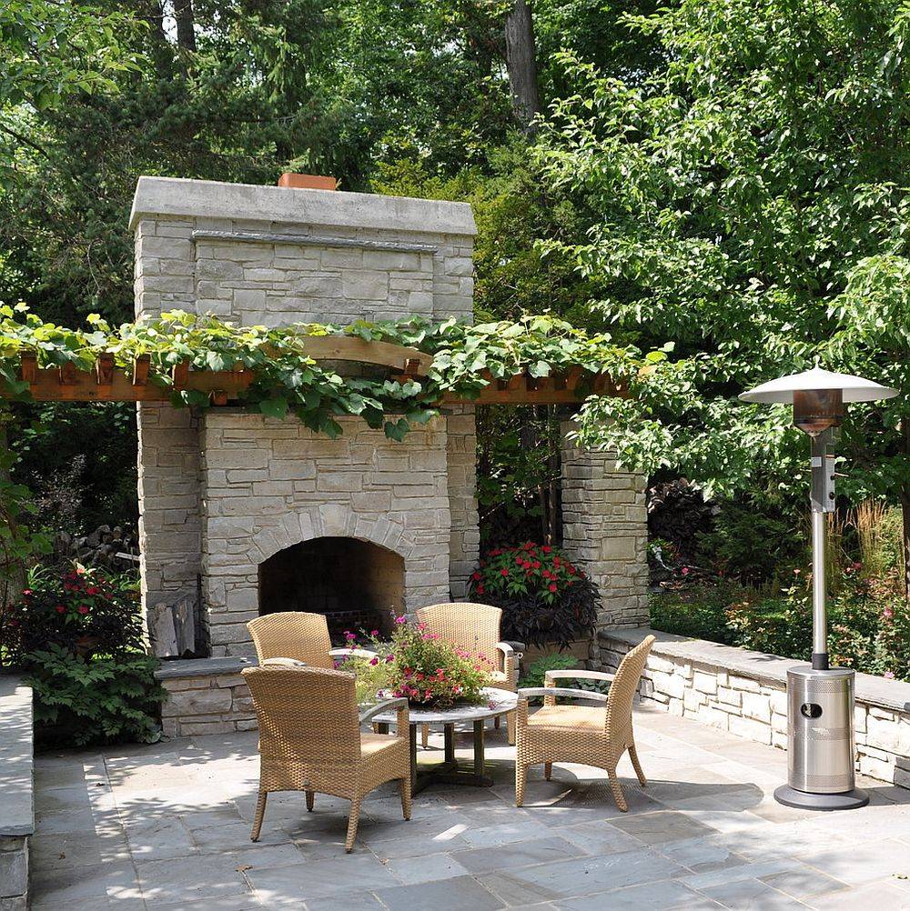 Outdoor Fireplace Design Sizzling Style How to Decorate A Stylish Outdoor Hangout