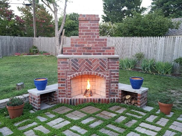 Outdoor Fireplace Design Small Outdoor Brick Fireplaces