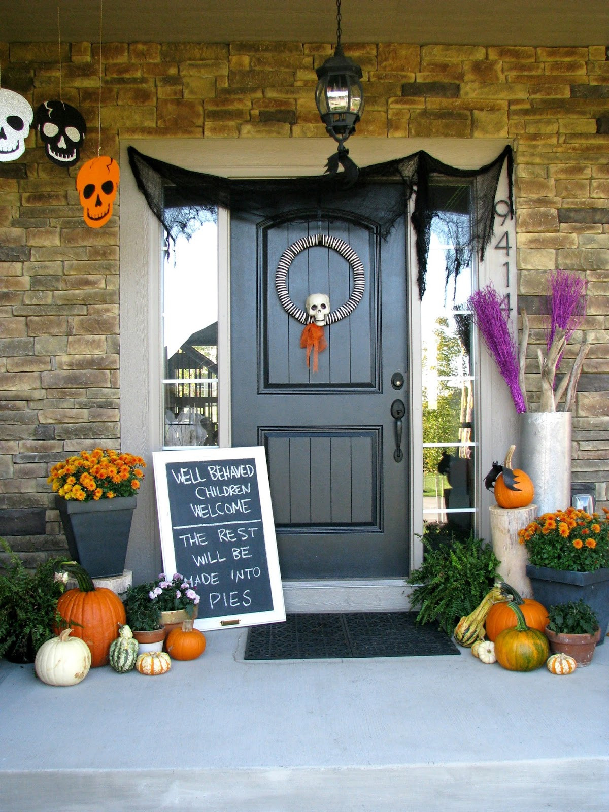 Outdoor Halloween Decorations 13 Halloween Porch Ideas Lolly Jane