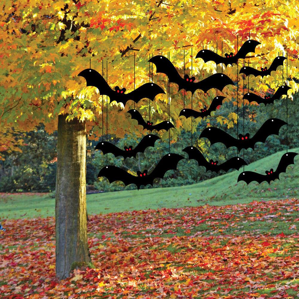 Outdoor Halloween Decorations Scary Bat Halloween Yard Decoration Card Set 12pcs
