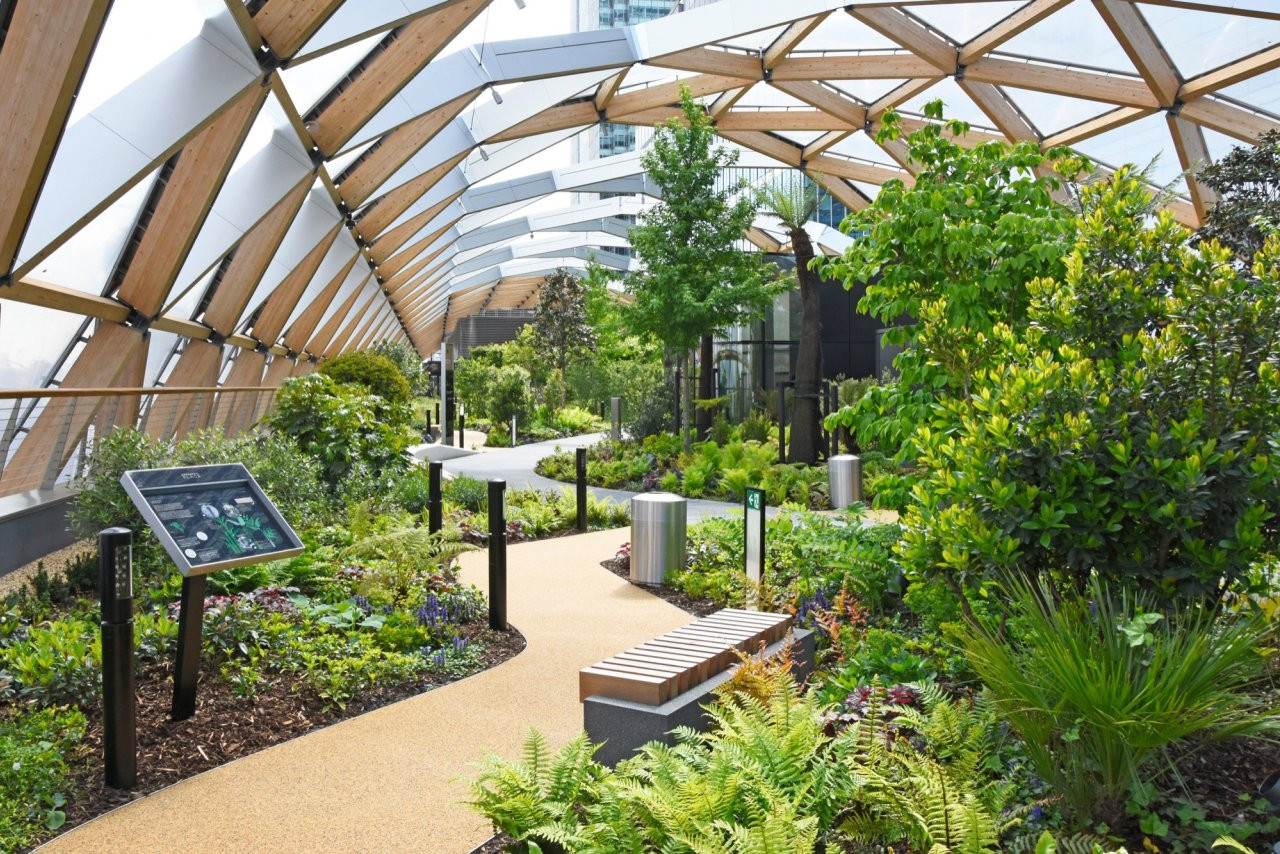Rooftop Garden Crossrail Place Roof Garden Projects Gillespies