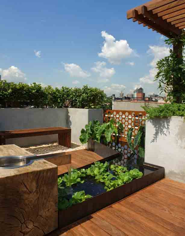 Rooftop Garden New York City Rooftop Garden Fers Views and Privacy
