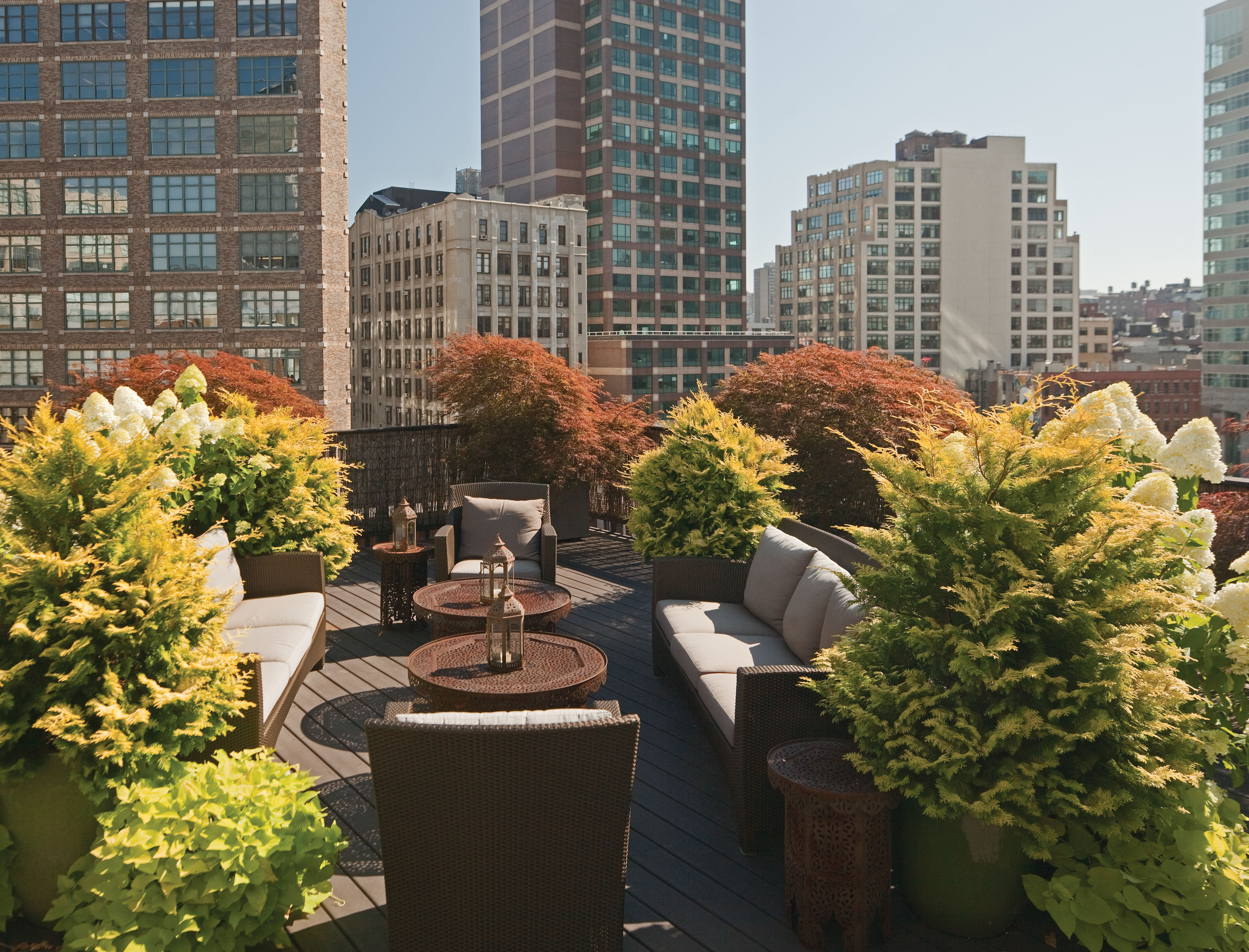 Rooftop Garden Rooftop Gardens Home Decor Designs