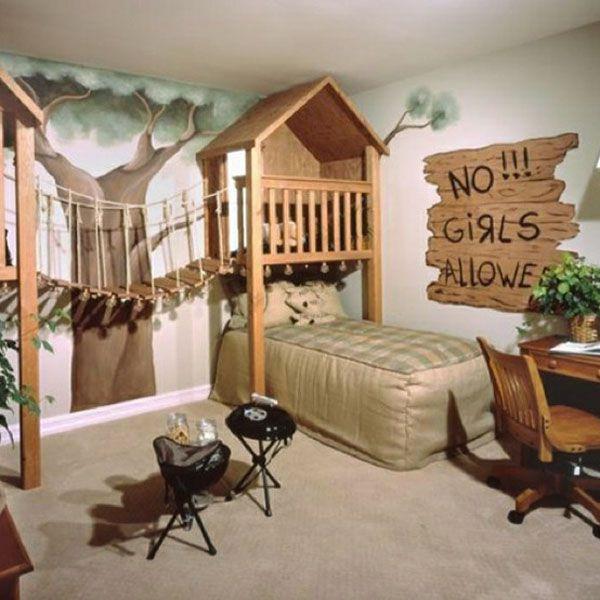 Rustic Kids Room Designs Rustic Kids Bedroom with Carpet by Sal Martines