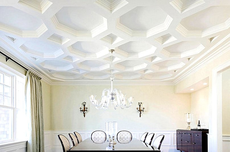 Unique Ceiling Design Gorgeous Coffered Ceiling with A Unique Shape
