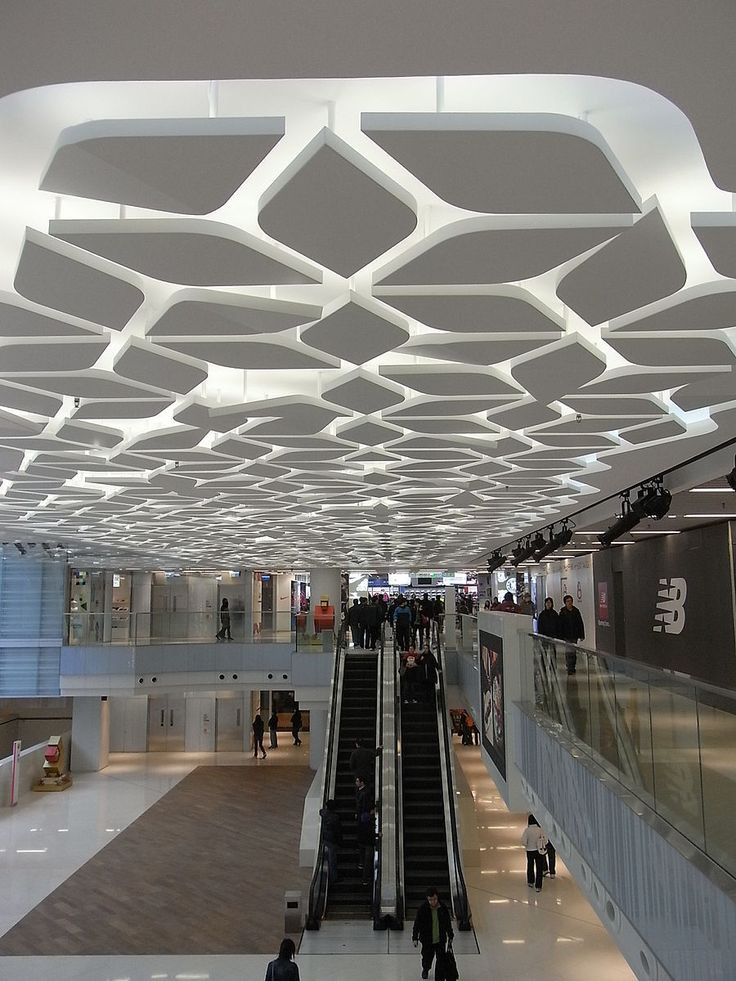 Unique Ceiling Design Mall Interior Ceiling Cool Pinterest