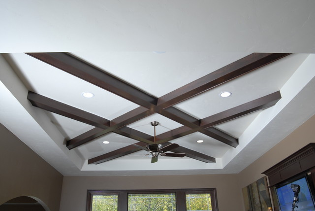 Unique Ceiling Design Unique Coffered Ceiling Contemporary Living Room